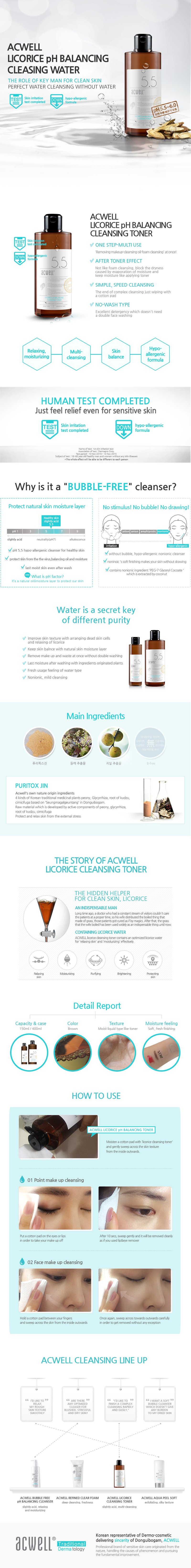 Acwell Licorice pH Balancing Cleansing Toner Description